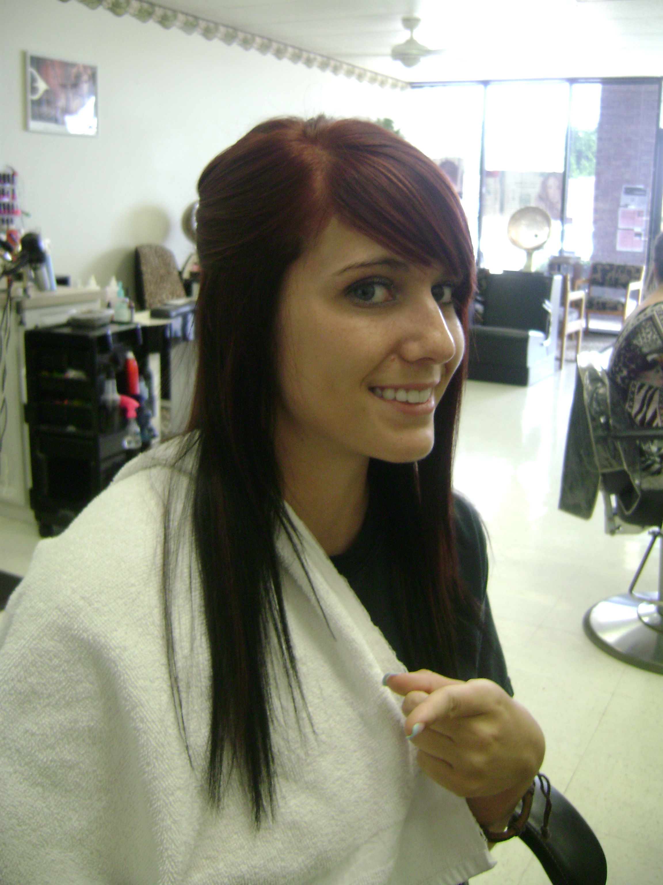 Medium Mahogany Brown Hair Color